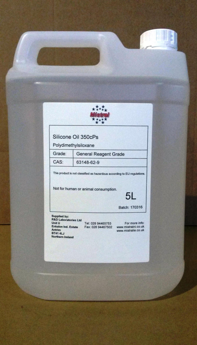Silicone Oil 350 (Polydimethylsiloxane PDMS) Lubricant Release agent