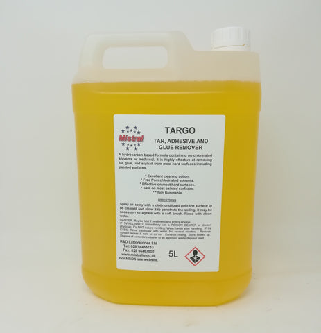 Targo -Tar, Glue & Adhesive Remover - Valeters, Industrial applications
