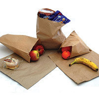 "8.5"" x 8.5"" (215 x 215 mm) Brown Kraft Paper Bags (Pack of 1000)"