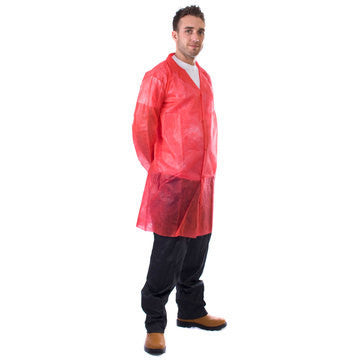 50 Disposable Non-Woven Coats - Large
