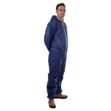 10 Blue  PP Non-Woven Coverall - Large
