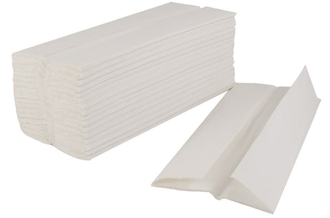 "2 Ply White ""C-Fold"" Hand Towels (Box of 2400)"