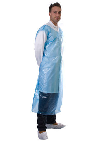 500 Blue - Disposable PE Smock Aprons