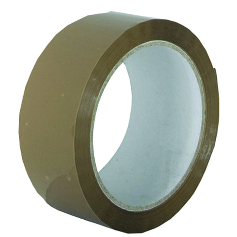 48mm x 66m Buff Premium Low Noise Polypropylene Tapes (Pack of 6)