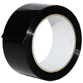 48mm x 66m Black Packaging Tape (Pack of 6)