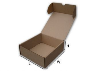"50 Brown Postal Boxes 19"" x 15.9"" x 3.5"" (485x403x90mm)"