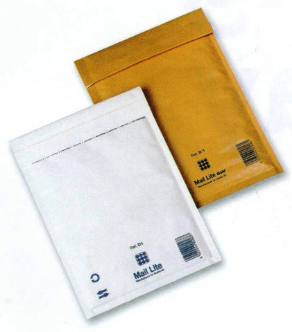 B/00 (120x210mm) Mail Lite Bubble Envelopes (Pack of 100)