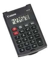 Canon Small Pocket Calculator Black AS-8