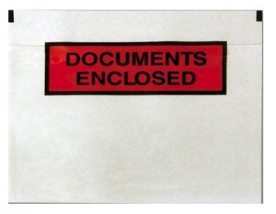 "A7 (113 x 100mm) 1000 ""DOCUMENT ENCLOSED"" Wallets"