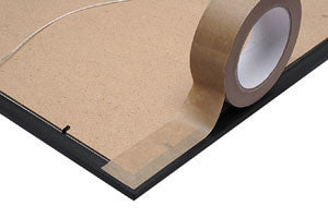 75mm x 50mtr Self Adhesive Kraft Paper Tape (Pack of 12)