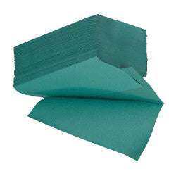 1 Ply Green Interfold Hand Towels (V-Fold) (Box of 5000)