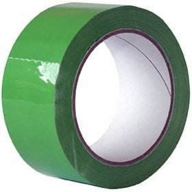 48mm x 66m Green Packaging Tapes (Pack of 6)