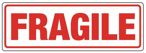 """FRAGILE"" 148x50mm Labels (Roll of 500)"