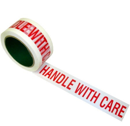 50mm x 66m Printed Tape (HANDLE WITH CARE) (Pack of 6)