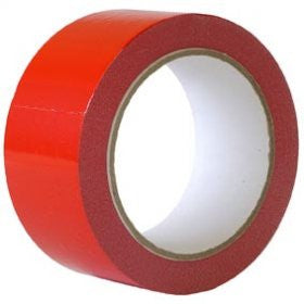 48mm x 66m Red Packaging Tapes (Pack of 6)
