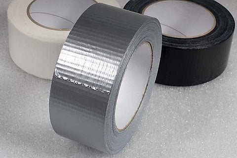 50mm x 50m Silver Cloth Tape