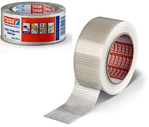 48mm x 25m Tesa Transparent Cloth Tape