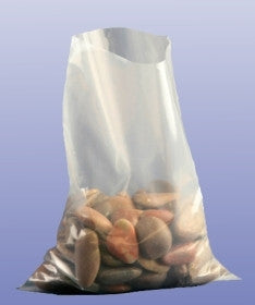 20 x 30 (500 x 750mm) - 400G Heavy Duty Clear Polythene Bags (100 Pack)