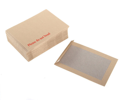 318 x 267 Board-Back Envelopes Hard Back (Pack of 125)