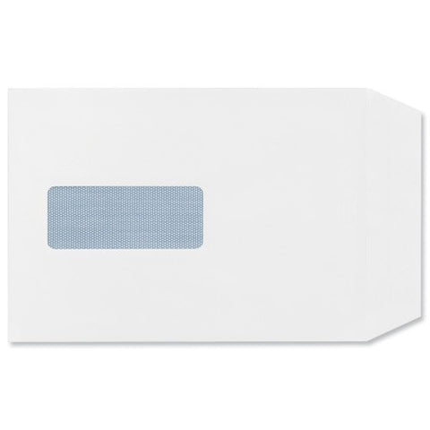 500 White Window  100 gsm Peal & Seal C5 Envelopes