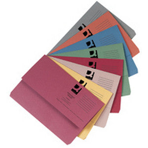 30mm, 285 gsm Foolscap  Document Wallets (Pack of 50)