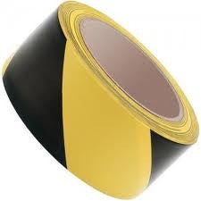 50mm x 33mtr  Heavy Duty Yellow/Black Lane Marking Tape