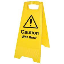 Caution Wet Floor Sign (Pack of 6)
