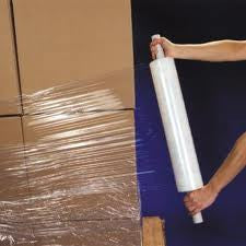 500mm x 1700m x 20micron Clear Stretch Film & Pallet Wrap  Extended Cores- 6 Rolls