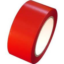 50mm x 33mtr  Heavy Duty Red Lane Marking Tape