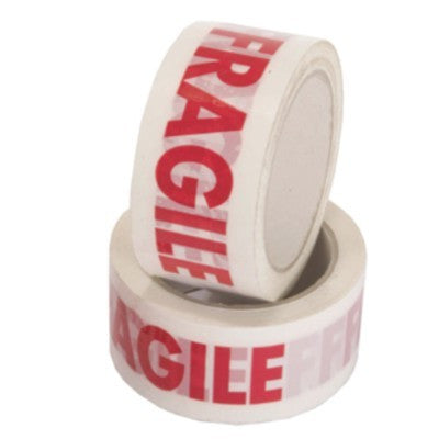 50mm x 66m Printed Tape (FRAGILE) (Pack of 6)