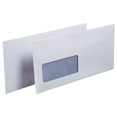 1000 White Window  80 gsm Self Seal DL Envelopes