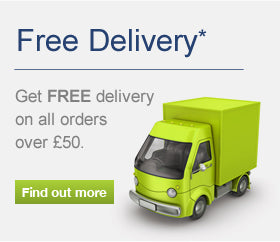 Free Delivery on all Orders over £50