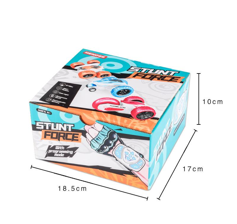 Toy cars 2.4G mini remote control stunt car charging tricycle cool watch remote control car programming toy double-sided car