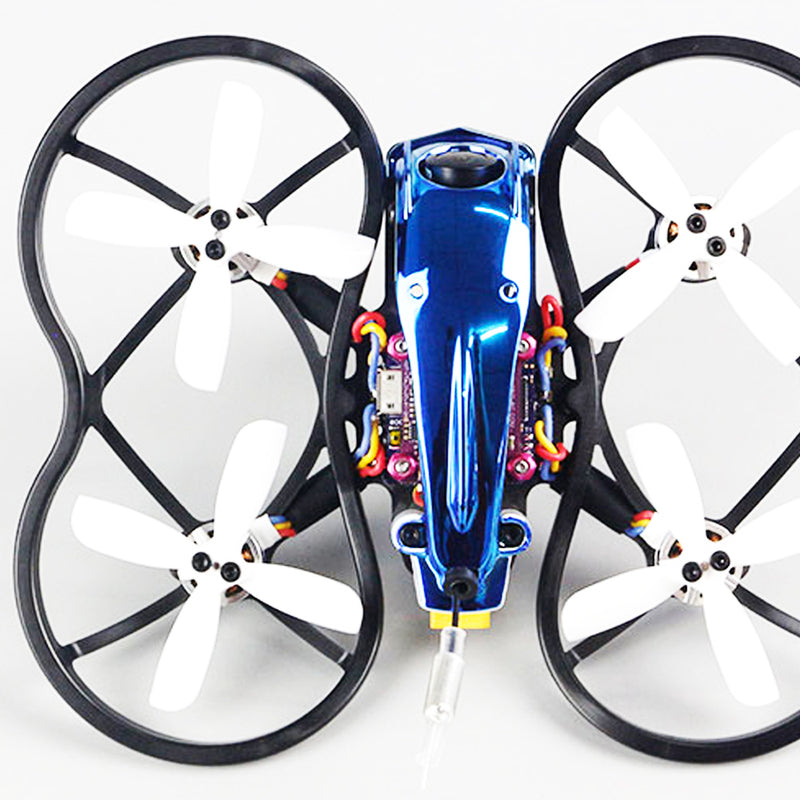 90GTI-FPV 98mm 3S 2 Inch Whoop FPV Racing Drone BNF/PNP 4 FC OSD 20A Blheli_S Brushless ESC 200mW VTX 1200TVL Cam