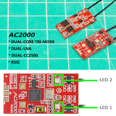 Xboss AC2000 Receiver 16 channels S.bus Frsky D16 mode and Futaba SFHSS for micro fpv drone