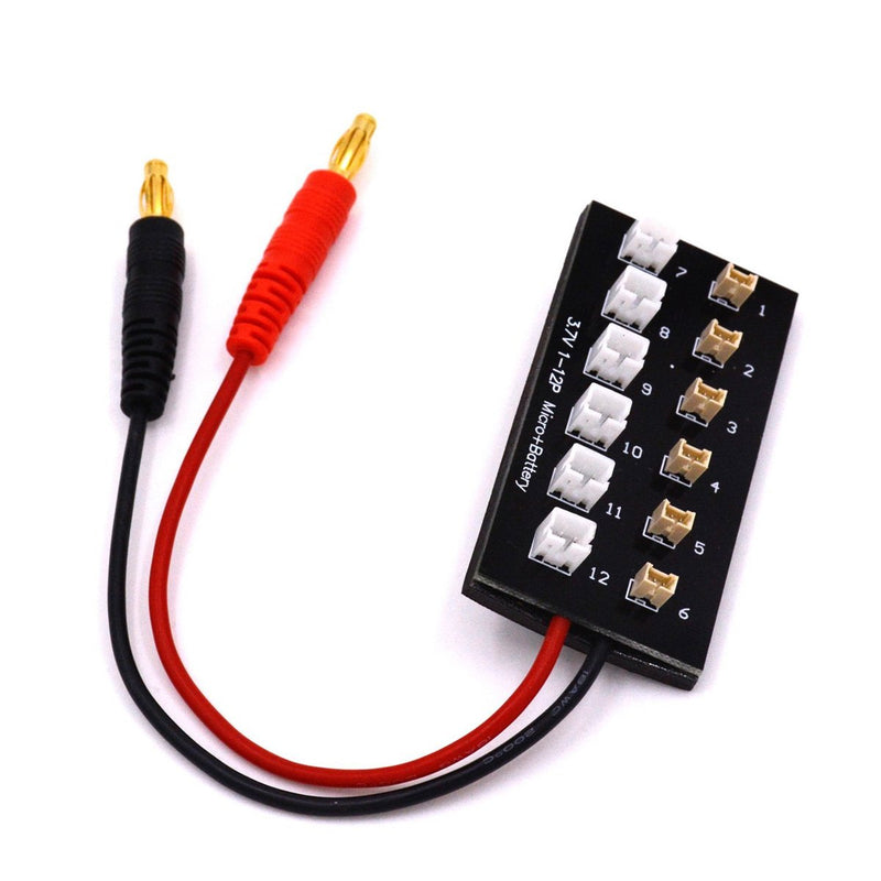 6-in-1 1s Lipo Battery Charging Board Ultra Micro & JST-PH Parallel Connect Plate for Horizon Hobby Blade Inductrix, Blade Nano QX FPV