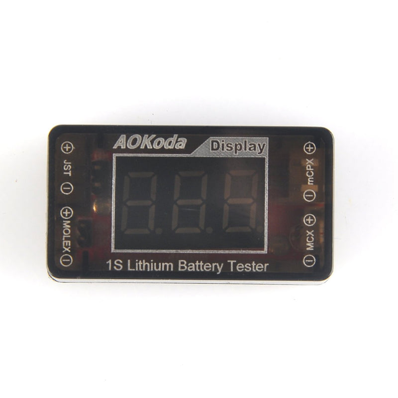 1S LiPo Battery Voltage Checker Tester for Tiny Whoop Blade Inductrix Quadcopter with Micro JST 1.25 JST-PH 2.0 Micro Losi and JST Connector
