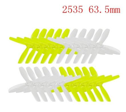 10 Pairs Kingkong 2045 / 2535 4-blade Propeller CW CCW 1.5mm Mounting hole Bright Green and White for Drone