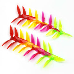 Kingkong 5051 Multicolor 3-blade Propeller CW CCW 5.0mm Mounting Hole for FPV Racer RC Multicopter