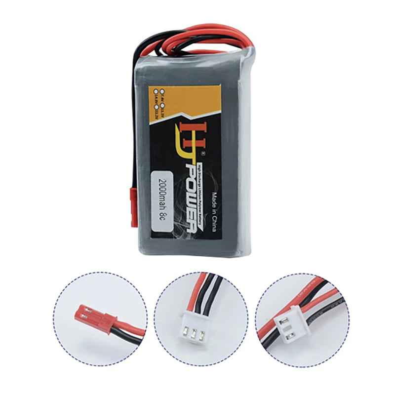 7.4V 2000MAH Lipo Battery for Jumper T16 Open Source Multi-protocol Radio Transmitter