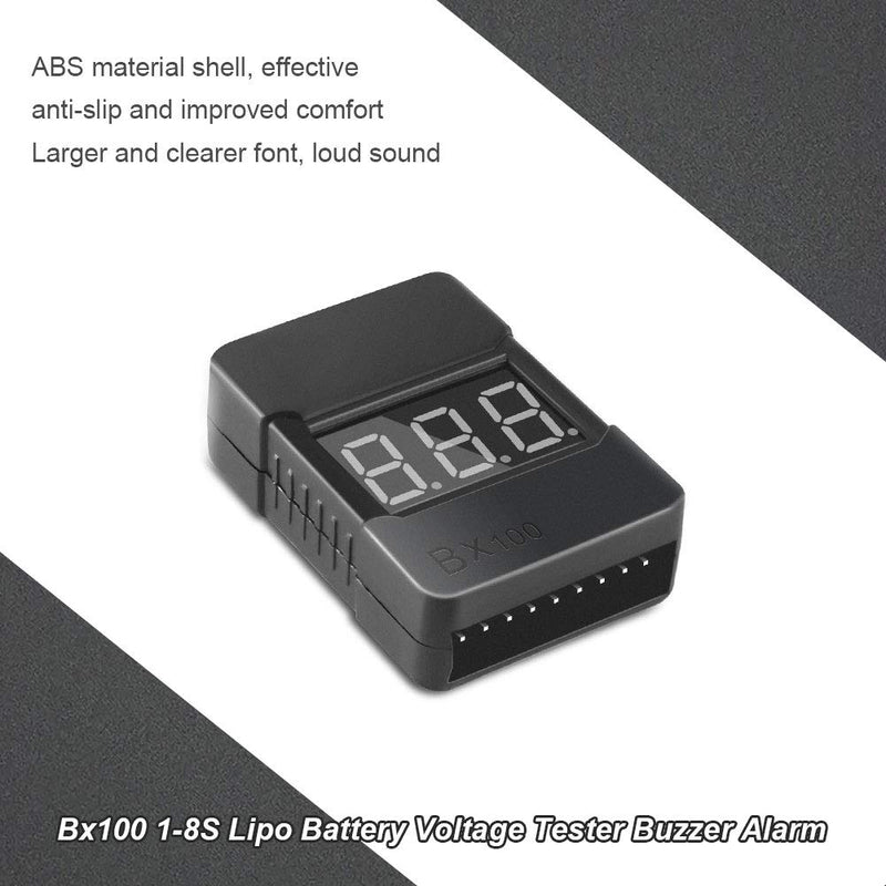 Low Voltage Buzzer Alarm 1-8S Lipo Battery Voltage Tester (BX100)