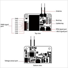 HOBBYMATE Flysky Mini Receiver X6B i-BUS PPM PWM Output