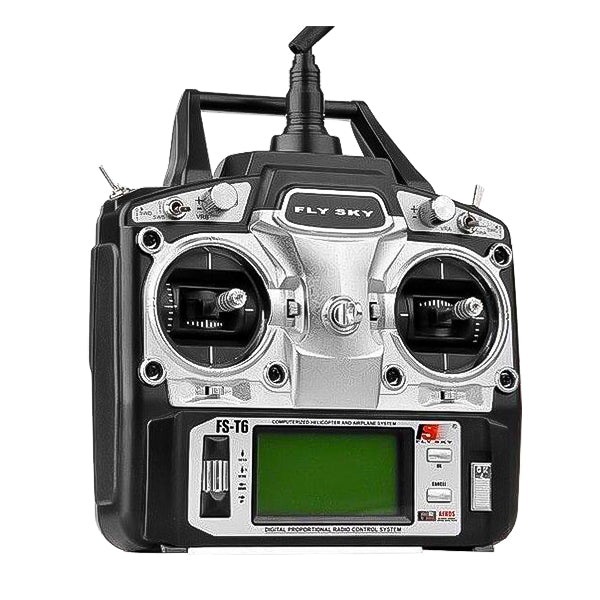 Flysky FS T6 6 Channel Radio with R6B Receiver, for Rc Heli, Airplane, Fpv Drone and Quadcopters