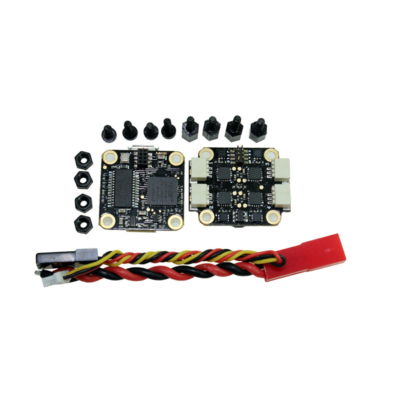 HAKRC 16x16mm flytower LEDF4 F4 OSD flight Controller w/ RGB LED And 1S10A BL_S 4in1 ESC for RC drone