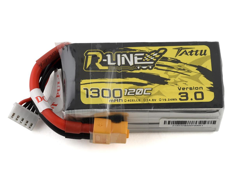 Tattu R-Line V3.0 1300mAh 120C 4S / 6S Lipo Battery XT60 Plug FPV Racing Drone RC Quadcopter