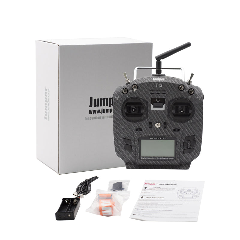 Jumper T12 Pro Hall Sensor Gimbals Radio Transmitter OpenTx Ready, w/ Internal Module