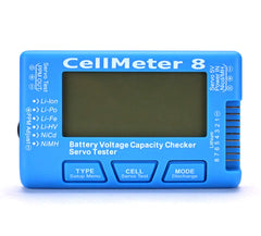 CellMeter 8 Digital Battery Capacity Checker Servo Tester LCD Backlight for LiPo Life Li-ion NiMH Nicd