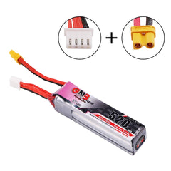 GAONENG 520mAh 3S LiHv Battery Pack LiPo Battery XT30 Plug for Micro FPV Racing Drone - 2pcs / 3pcs optional