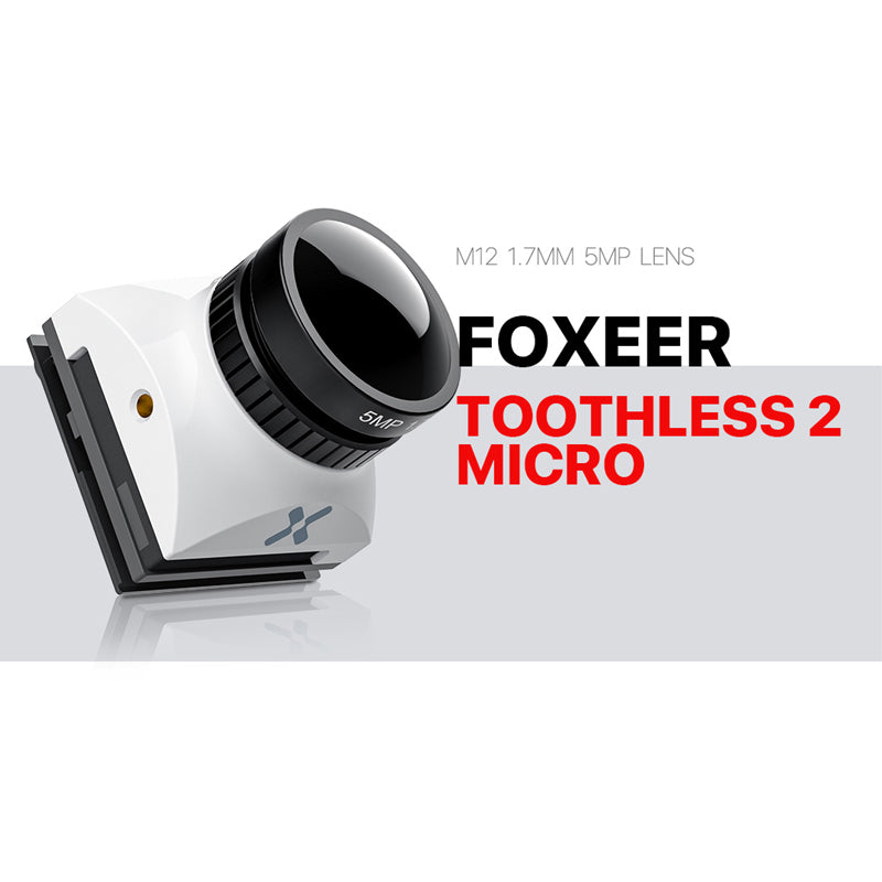 "Foxeer Micro Toothless 2 Angle Switchable FPV StarLight Camera 1/2"" Sensor Super HDR"