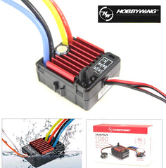 Hobbywing QuicRun WP 1060 Brushed ESC 60A 2-3S LiPo Waterproof for RC 1/10th Touring Cars Buggies Trucks Rock Crawlers